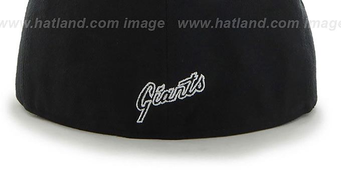 SF Giants 'SHAKEDOWN' Black Fitted Hat by 47 Brand