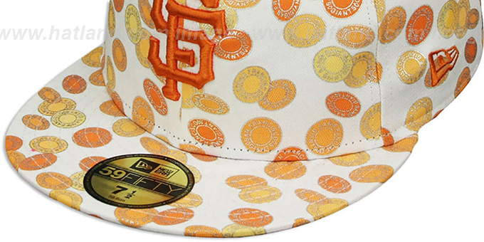 SF Giants 'TOKENS' White-Orange Fitted Hat by New Era
