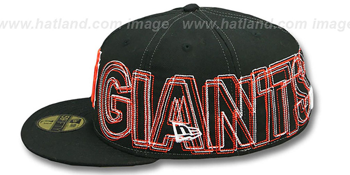 SF Giants 'WORD-WRAP' Black Fitted Hat by New Era