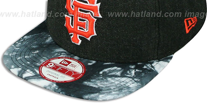 SF Giants 'ZONE-VIZE SNAPBACK' Black Hat by New Era