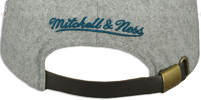Sharks '2T TAILSWEEPER STRAPBACK' Grey-Teal Hat by Mitchell & Ness