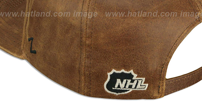 Sharks 'DYNASTY LEATHER STRAPBACK' Brown Hat Zephyr