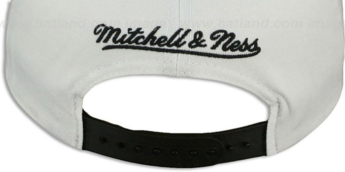 Sharks 'HOMESTAND SNAPBACK' White-Black Hat by Mitchell and Ness