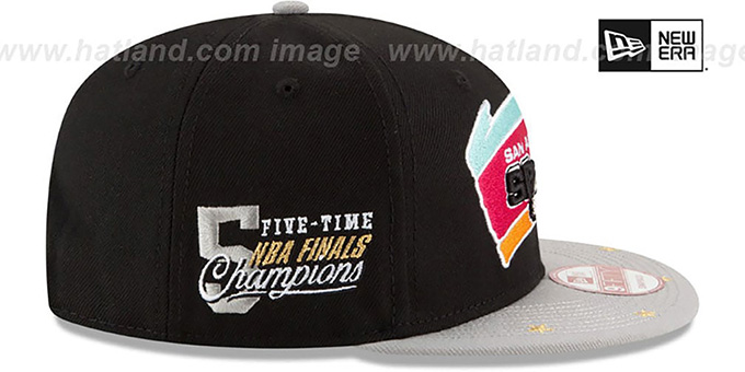 Spurs 'NBA STAR-TRIM SNAPBACK' Black-Grey Hat by New Era