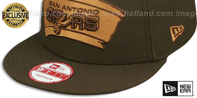 475463b729c ... Spurs  TEAM-BASIC SNAPBACK  Brown-Wheat Hat by New Era