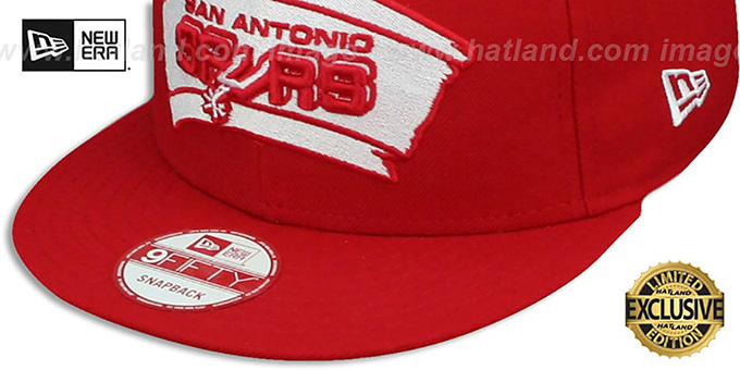 Spurs 'TEAM-BASIC SNAPBACK' Red-White Hat by New Era