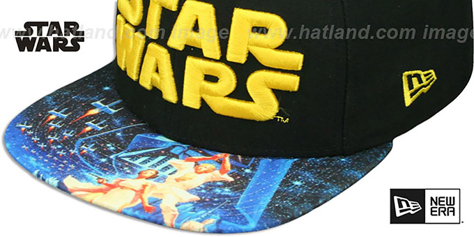 Star Wars 'VIZA-PRINT SNAPBACK' Black Hat by New Era