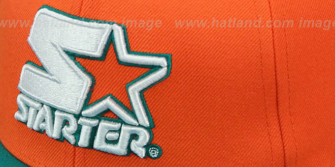 Starter 'S-STAR WORDMARK SNAPBACK' Orange-Aqua Hat