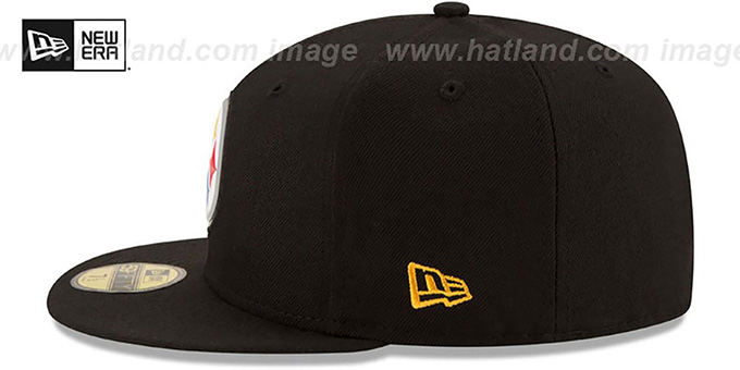 Steelers 'BEVEL' Black Fitted Hat by New Era