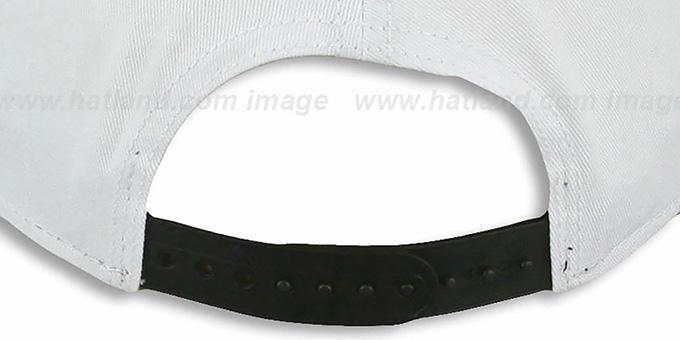 3a35978bd7ef56 ... Steelers 'BIGSIDE A-FRAME SNAPBACK' White-Black Hat by New Era