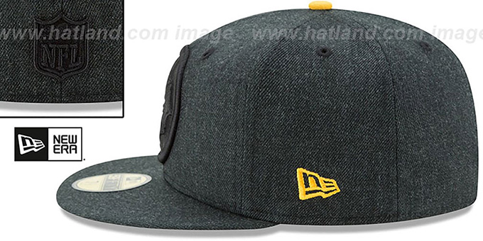 Steelers 'JUMBO HEATHER' Black Fitted Hat by New Era