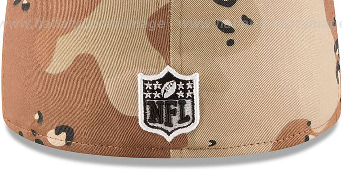 Steelers 'NFL TEAM-BASIC' Desert Storm Camo Fitted Hat by New Era