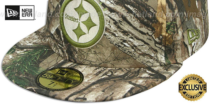 Steelers 'NFL TEAM-BASIC' Realtree Camo Fitted Hat by New Era