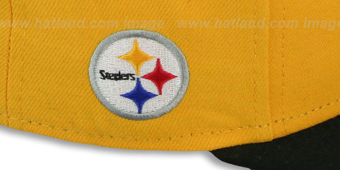 c631c4e2993 ... Steelers  NFL-TIGHT  Gold-Black Fitted Hat by New Era