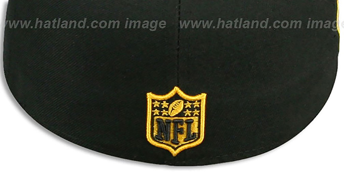 Steelers 'SIDE TEAM-PATCH' Black Fitted Hat by New Era