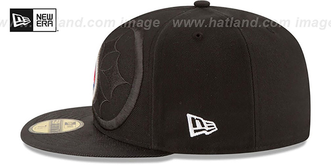 Steelers 'STADIUM SHADOW' Black Fitted Hat by New Era