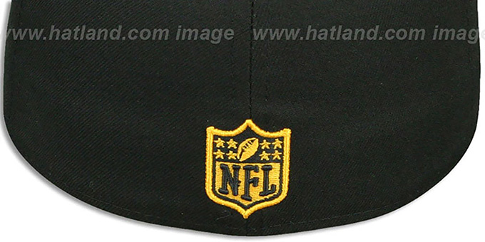Steelers 'STATE REFLECT' Black-Gold Fitted Hat by New Era