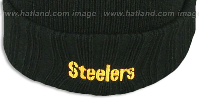 Steelers 'SUPER BOWL PATCHES' Black Knit Beanie Hat by New Era