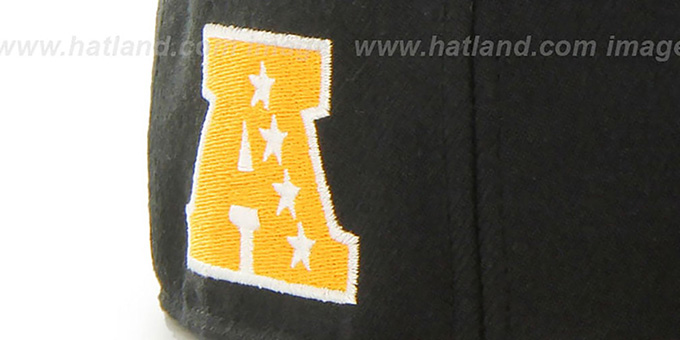 4471bce775b234 ... Steelers 'SUPER-SHOT STRAPBACK' Black-Gold Hat by Twins 47 Brand