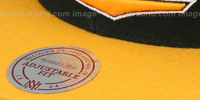 Steelers 'TAILSWEEP SNAPBACK' Black-Gold Hat by Mitchell and Ness