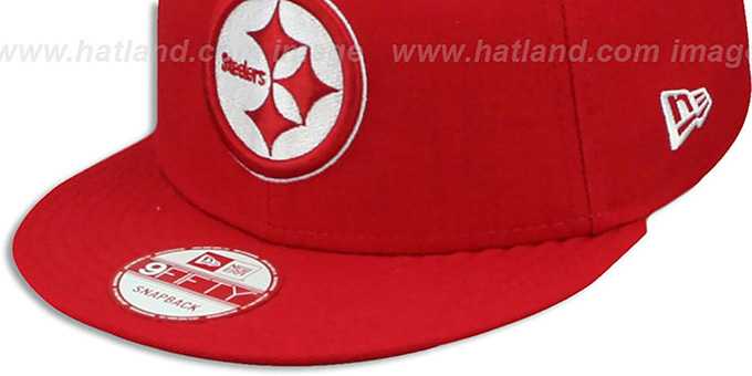 ... Steelers  TEAM-BASIC SNAPBACK  Red-White Hat by New Era c4bdd0d9f