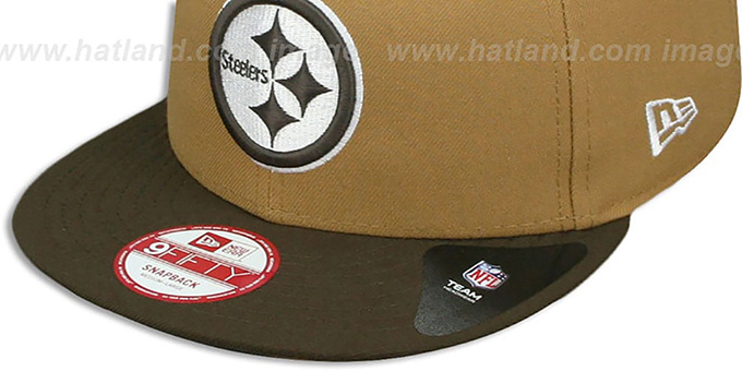 Steelers 'TEAM-BASIC SNAPBACK' Wheat-Brown Hat by New Era