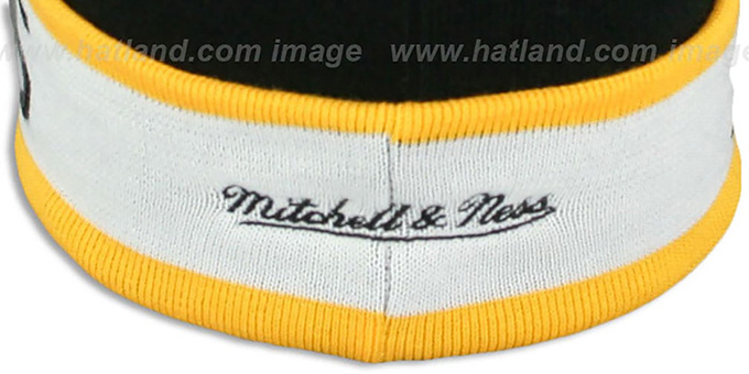 Steelers 'THE-BUTTON' Knit Beanie Hat by Michell and Ness