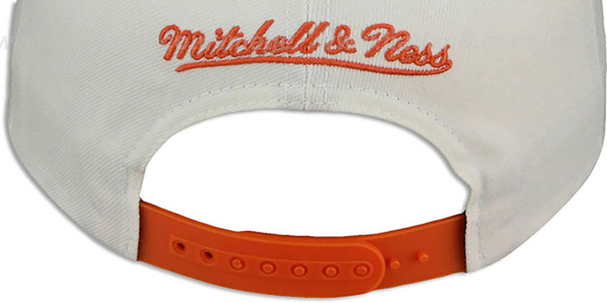 Suns 'HOMESTAND SNAPBACK' White-Orange Hat by Mitchell & Ness
