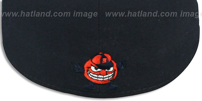 Syracuse 'SIDE BASKETBALL-PATCH' Navy-Orange Fitted Hat by New Era