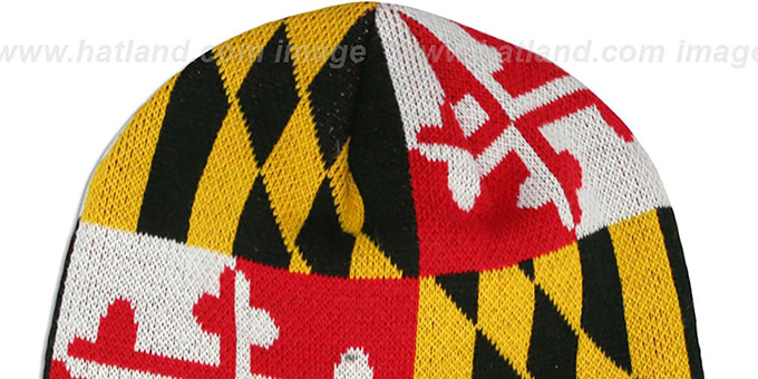 3d6173c2d4b ... Terps  TURTLE MARYLAND-FLAG  Knit Beanie Hat by New Era