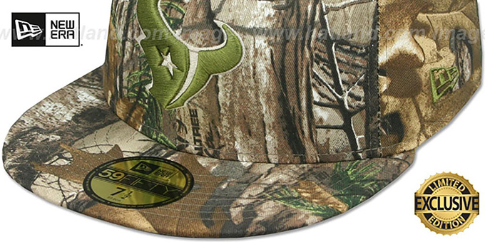 sale retailer 40859 853bb ... Texans  NFL TEAM-BASIC  Realtree Camo Fitted Hat by New Era
