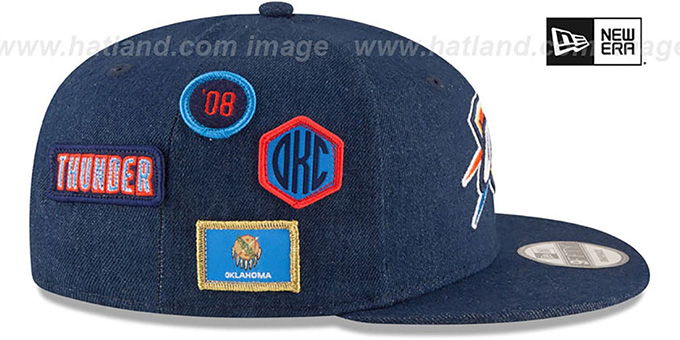 outlet store b3506 20a64 ... Thunder  2018 NBA DRAFT SNAPBACK  Navy Hat by New Era