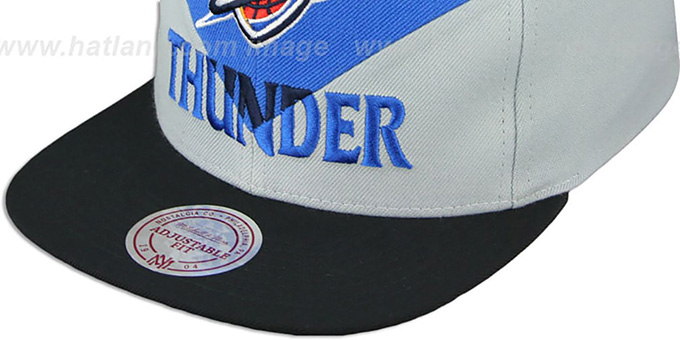 Thunder 'AMPLIFY DIAMOND SNAPBACK' Blue-Grey Hat by Mitchell and Ness