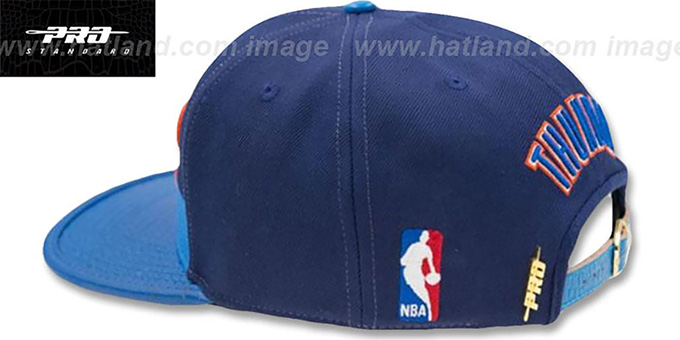 Thunder 'HORIZON STRAPBACK' Navy-Blue Hat by Pro Standard