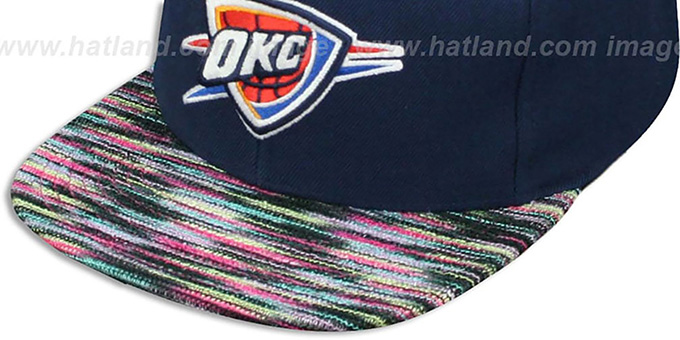 Thunder 'KNIT-WEAVE SNAPBACK' Navy-Multi Hat by Mitchell and Ness