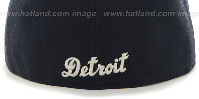 Tigers COOP 'CATERPILLAR' Navy Fitted Hat by 47 Brand
