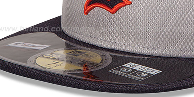 Tigers 'MLB DIAMOND ERA' 59FIFTY Grey-Navy BP Hat by New Era