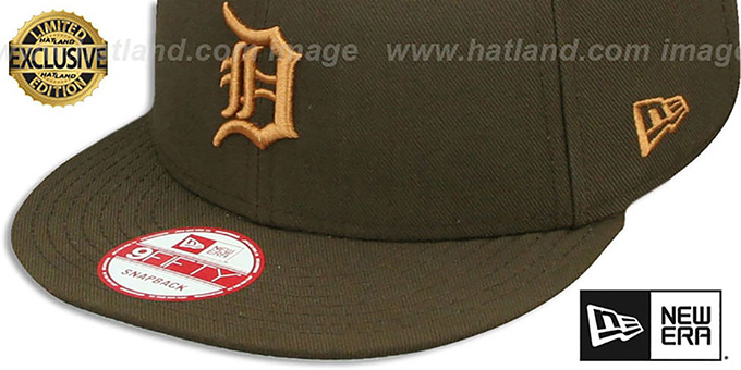 Tigers 'TEAM-BASIC SNAPBACK' Brown-Wheat Hat by New Era
