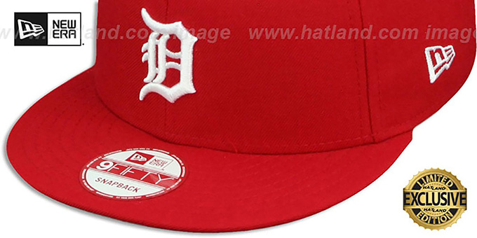 Tigers 'TEAM-BASIC SNAPBACK' Red-White Hat by New Era