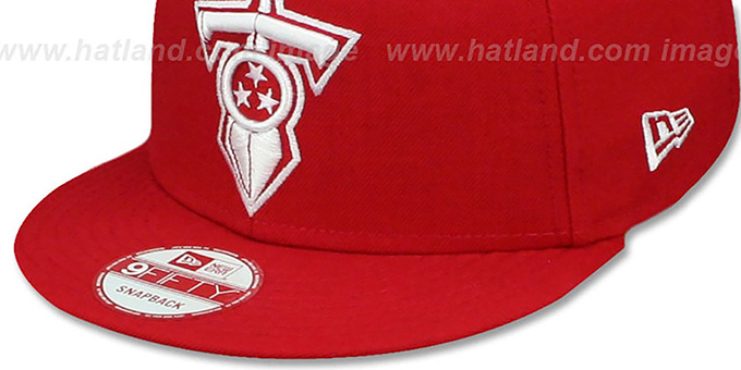 Titans 'TEAM-BASIC SNAPBACK' Red-White Hat by New Era