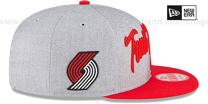 Trail Blazers 'ROPE STITCH DRAFT SNAPBACK' Grey-Red Hat by New Era
