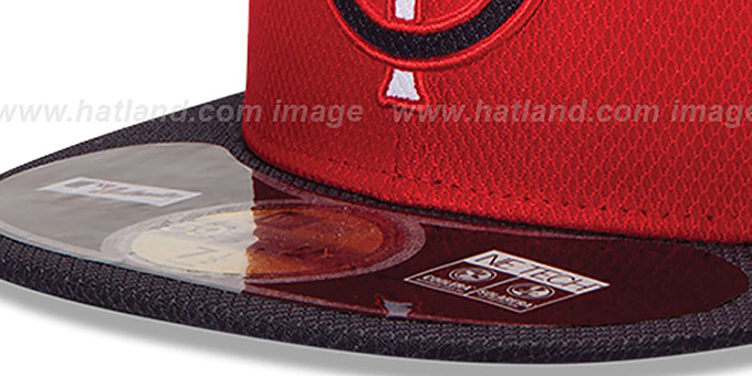 0ad3ba9030af95 ... Twins 'MLB DIAMOND ERA' 59FIFTY Red-Navy BP Hat by New Era