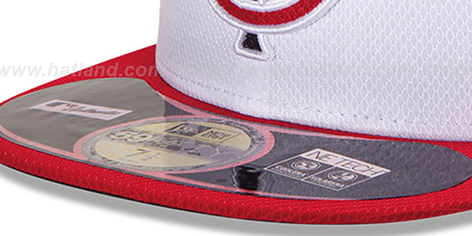 Twins 'MLB DIAMOND ERA' 59FIFTY White-Navy-Red BP Hat by New Era