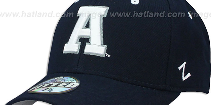 Utah State 'DH' Navy Fitted Hat by Zephyr