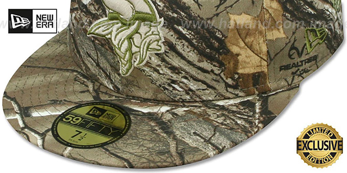 Vikings 'NFL TEAM-BASIC' Realtree Camo Fitted Hat by New Era