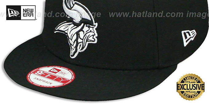 Vikings 'TEAM-BASIC SNAPBACK' Black-White Hat by New Era