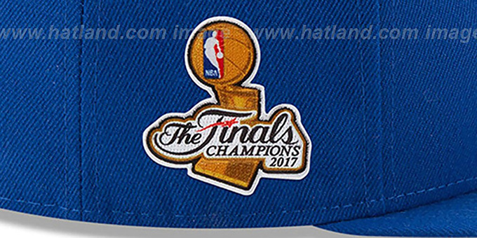 Warriors '2017 FINALS CHAMPIONS' Royal Fitted Hat by New Era