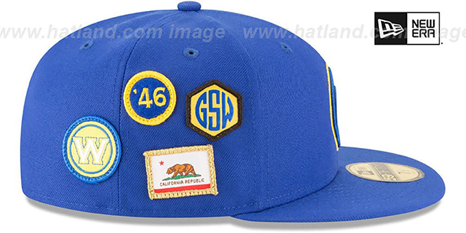 Warriors '2018 NBA DRAFT' Royal Fitted Hat by New Era