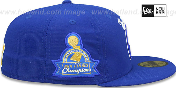 Warriors 4X 'TITLES SIDE-PATCH' Royal Fitted Hat by New Era