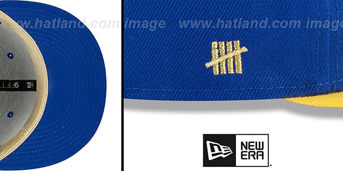 Warriors 'GLORY-TURN SNAPBACK' Royal-Gold Hat by New Era